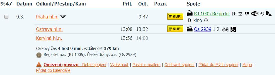 Do Karviné po vlastní ose, možné vlakové spojení v článku!