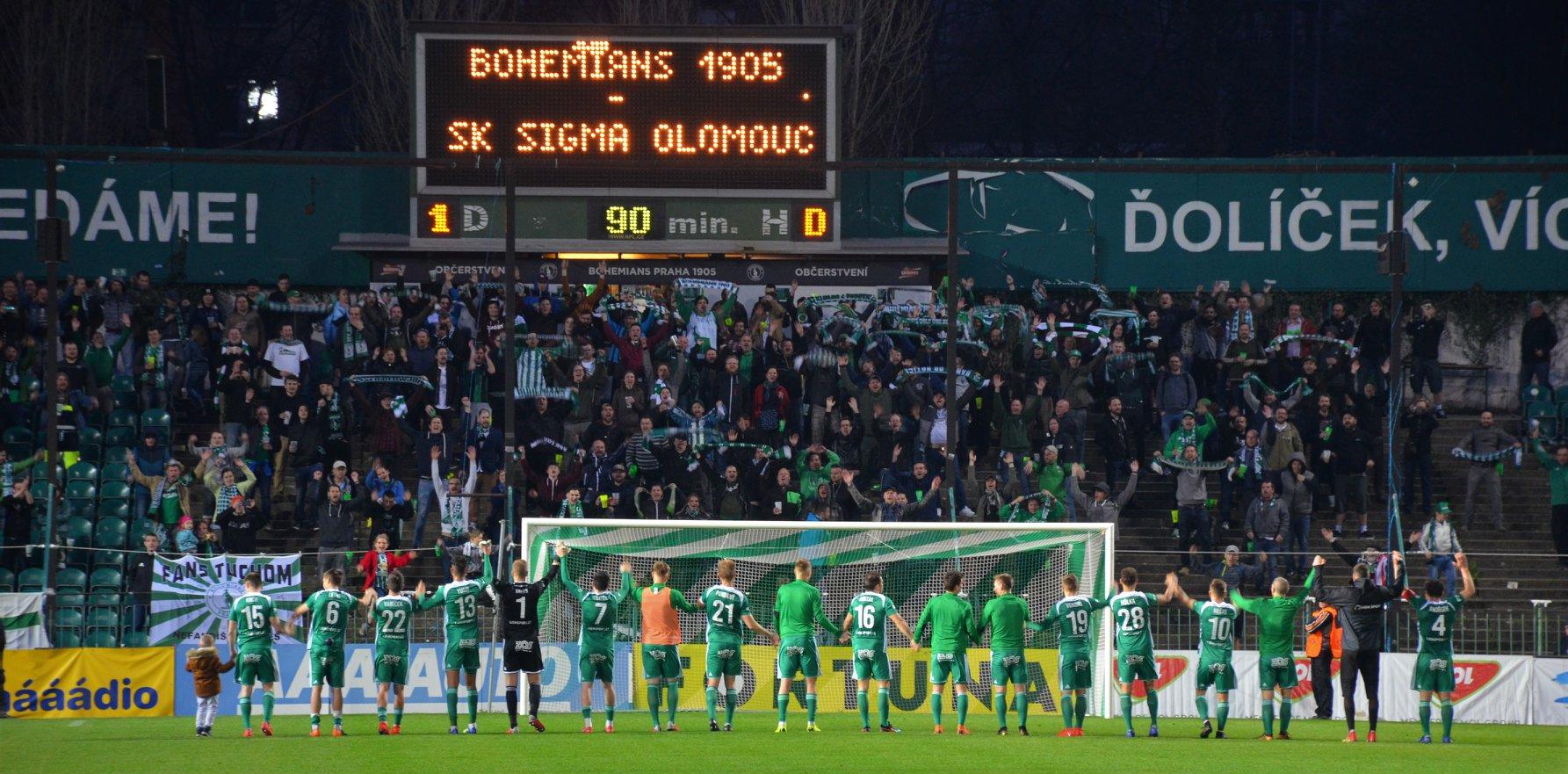 Bohemians Praha 1905 – SK Sigma Olomouc 1:0